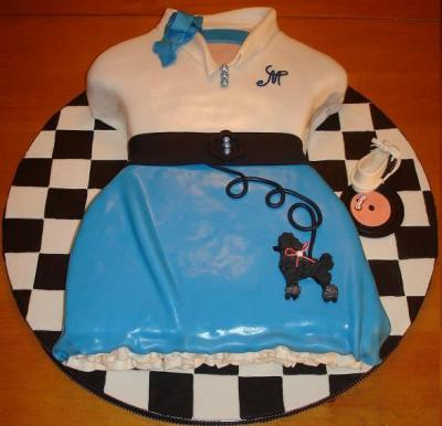 1950's Poodle Skirt Cake