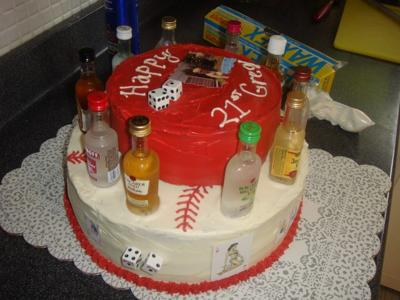 Baseball Birthday Cake on 21st Birthday Cake