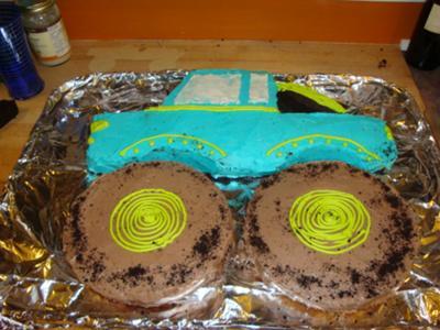 Adult Birthday Cakes on 2nd Birthday Monster Truck Cake