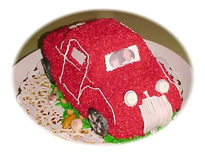 Red 34 Ford Coupe Cake