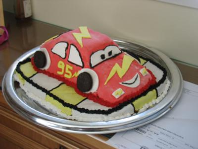 Coolest Lightning Mcqueen Birthday Cake