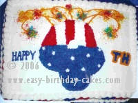 4th of July Cake Picture