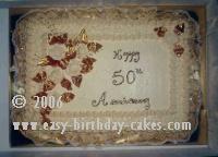 50th Anniversary Sheet Cakes