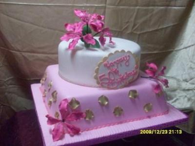 50th Rose Pink Birthday Cake By Atinuke