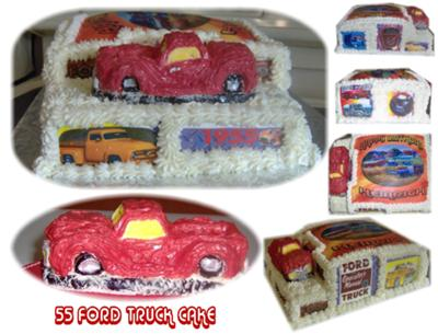 55 Red Ford Truck Cake