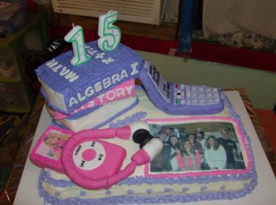 A 15 Year Olds Life Cake