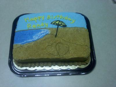 A Beachy Birthday Cake
