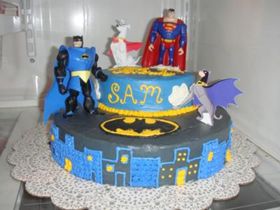 Ace Batman Krypto Superman Cake