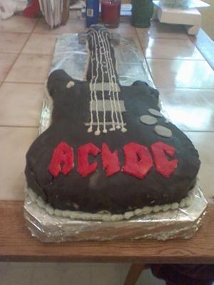 AC/DC Guitar Cake