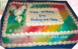 Rainbow Sheet Cake, homemade cake