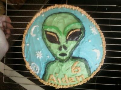 Excellent Alien Cake Funny Birthday Cards Online Elaedamsfinfo