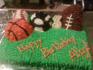 AllStar Sports Birthday Cake