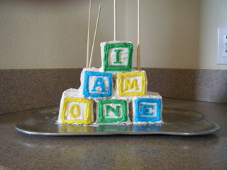 Alphabet Blocks for Baby Cake