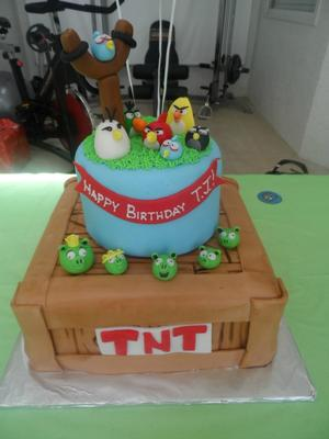Shark Birthday Cake on Angry Birds Tnt Cake Coolest Angry Birds Cake 21 Angry Birds Video
