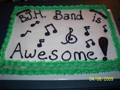 Band Themed Cake