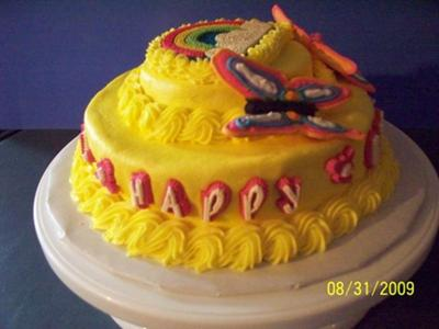 Aunt Anna's Butterfly Cake