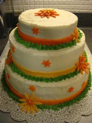 Autumn Wedding Shower Cake