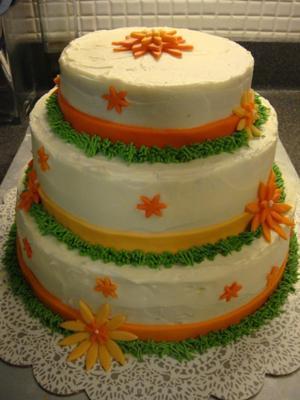 Autumn Wedding Shower Cake