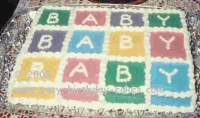 baby sheet cake picture