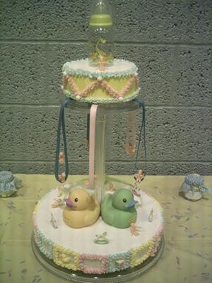 Baby Shower Carousel Cake