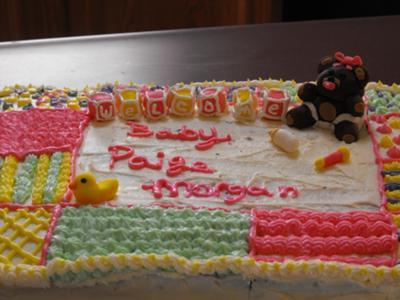 Baby Shower Quilt Cake