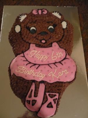 Ballerina Bear Birthday Cake