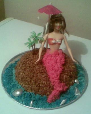 Barbie The Little Mermaid Cake
