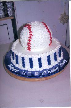 Baseball Cake A Sporty Birthday Cake