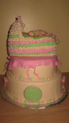 Bassinet Baby Shower Cake