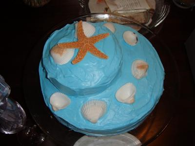 Beach Wedding Shower Cake