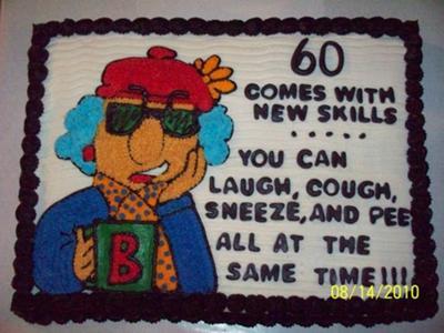 Maxine Cake for 60th Birthday