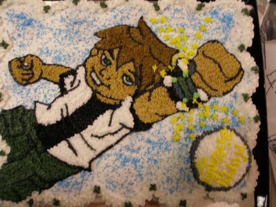 Ben 10 Cupcake Cake