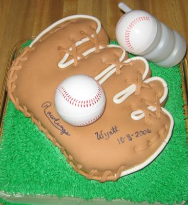Birthday Baseball Mitt Cake
