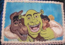 Shrek birthday cake idea