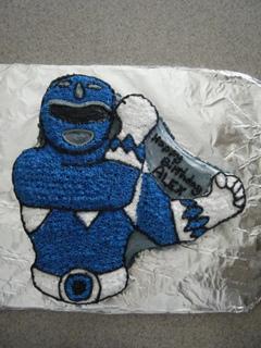 Blue Power Ranger Cake