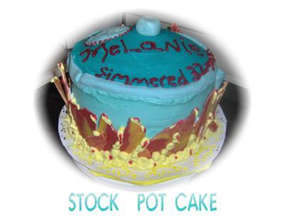 Blue Stock Pot Cake