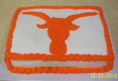 Longhorn Groom's Cake