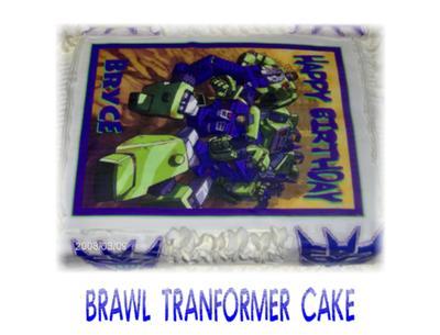 Brawl Tranformer Cake