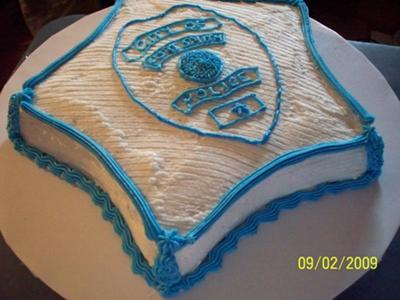 Bruces Police Birthday Cake