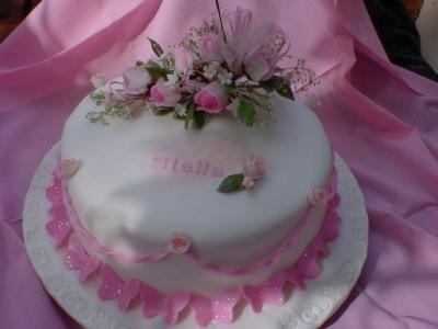 Butterflies And Flowers Cake