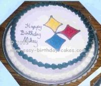 steeler cake decorating idea