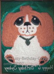 dog birthday cake idea