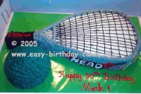 racquetball cake pictures