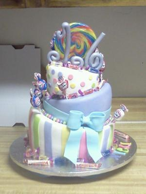 Candy Land Sweet Sixteen Cake