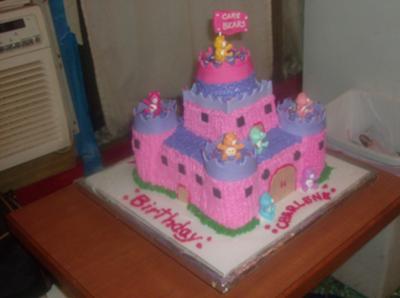 Care Bears Castle Cake