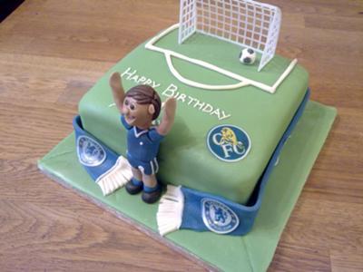 Swell Chelsea Football Birthday Cake Personalised Birthday Cards Veneteletsinfo
