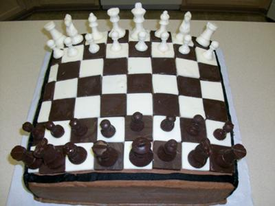 Chess Board Cake With Pieces