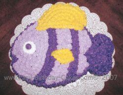 purple fish child birthday cake recipe