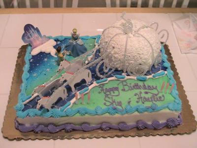 pictures of cakes for birthday. cinderella cake birthday