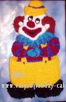 clown picture cake